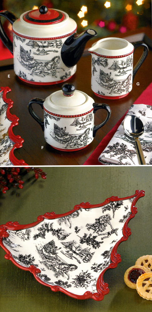 Holiday Tea Set and Candy Plate