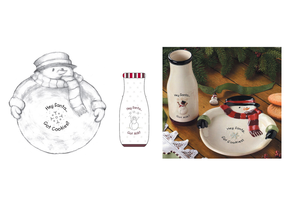 Santa Cookie Plate & Milk Jug