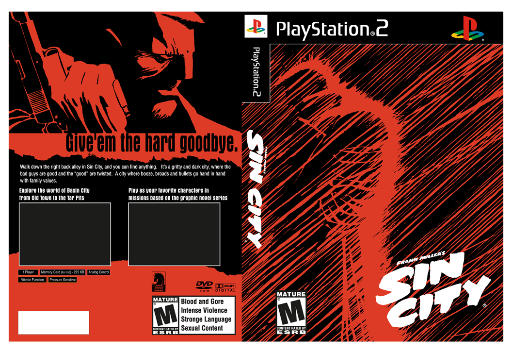 Sin City Game Packaging Concept