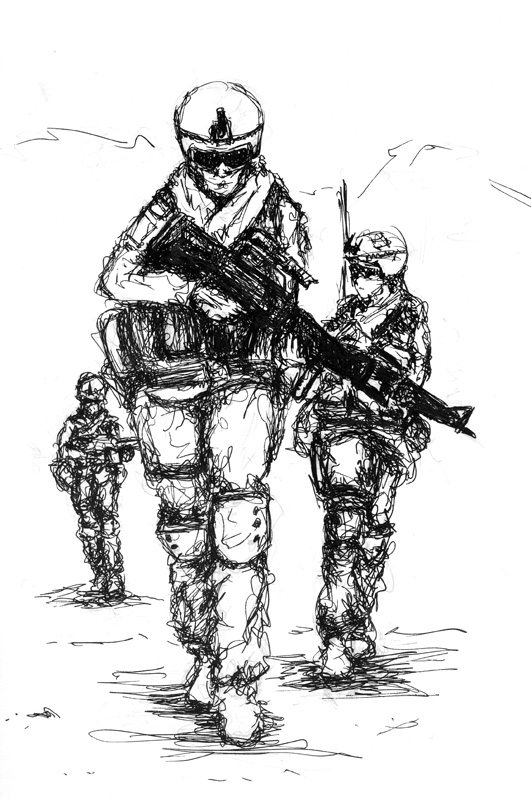 Soldiers on Patrol